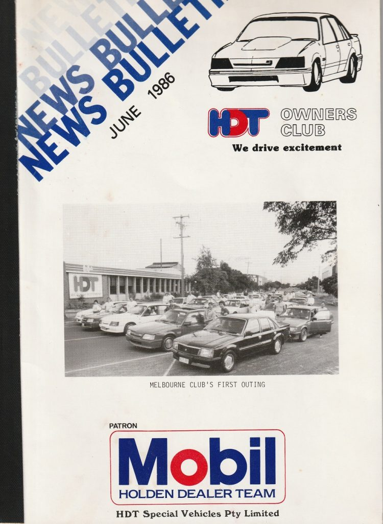 1986: Going National – HSV Owners Club of NSW (Inc HDT) Inc